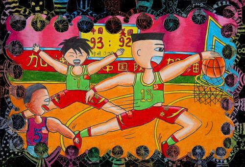 """同一个梦想""""-2008年北京奥运会是中国人的梦,也是中国少年儿童的梦想.图片"""